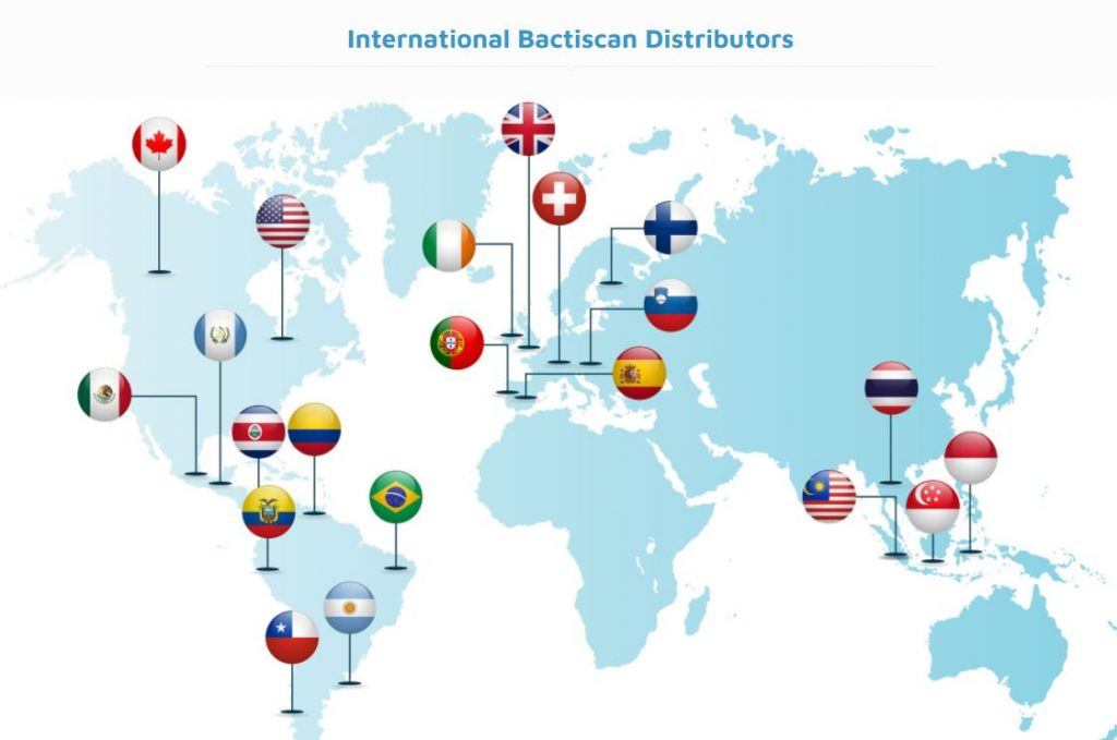 Bactiscan Resellers Map